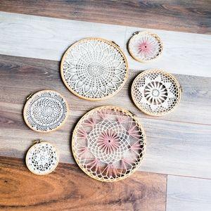 Boho decorative lace hoops